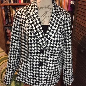 Coldwater Creek houndstooth blazer Size 16